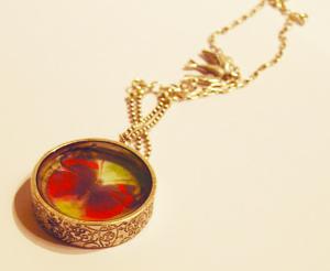 butterfly resin pendant
