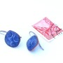 Indigo blue and white handmade enamel on copper earrings