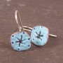 copper enamel handmade earrings