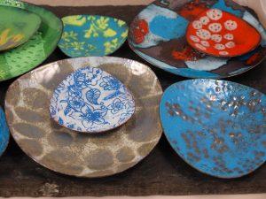 copper enamel trinket dish