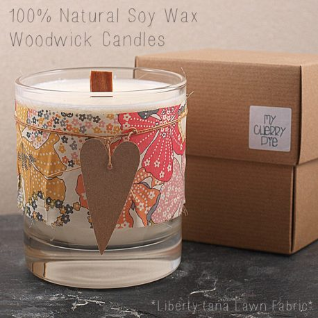 Liberty Tana Lawn Soy Wax Candle