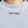 Splat enamel and oxidised copper necklace