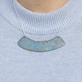 Statemnt Bib Copper enamel necklace