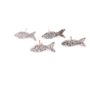 sterling silver fish stud earrings