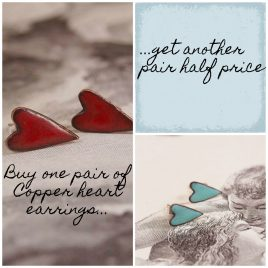 Copper Hearts Offer Buy one pair get another half price