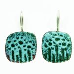 speckled enamel earrings