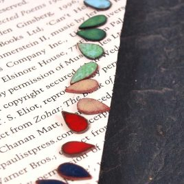 Small Enamel Earstuds bindi drop coloured enamel