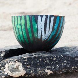 Large Copper enamel bowl