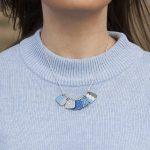 patchwork copper enamel necklace