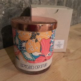 Spiced Orange Liberty Tana lawn Soy wax container candle.