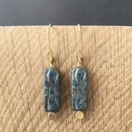 czech glass brass earrings