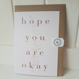 hope you are okay sympathy card