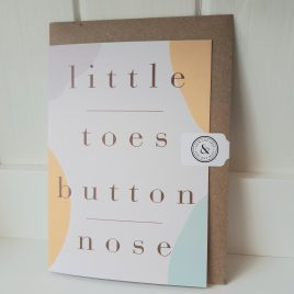 little toes button nose greeting card