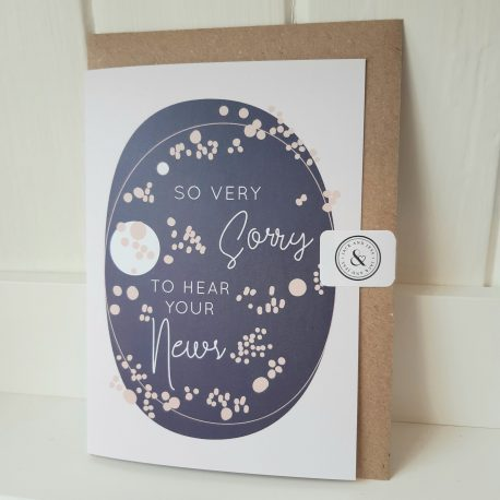 so very sorry sympathy card
