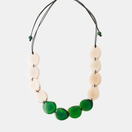 The Medellin Tagua Slice is an adjustable macrame style fastening necklace that is part of our Colombia Collection. The tagua slices are an amazing material, durable and so light weight that you don't even feel it on. Perfect to wear in many occasions this is a popular choice! 100% organic, vegan and biodegradable Ethically made in Colombia Handmade It is approximately 52cm long at its maximum length Each piece of jewellery will arrive in a lovely eco-friendly and fair trade bag, ready to be kept safe inside or for gift giving. The package will also include care instructions and description of seeds and nuts used. Our jewellery is natural and one of a kind, they might have a slight colour, texture and size variation from the pictured piece. This makes each piece all he more unique!