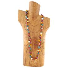 These long necklaces are handmade with acai seeds, the seeds are light and colourful, a delicate and almost floating effect make this necklace a very popular choice amongst different age groups. It can be worn long or doubled up for a short and full effect. 100% organic, vegan and biodegradable Ethically made in Scotland Handmade clasp using macrame techniques, no metal in them Length 37 inches (95cm) Each piece of jewellery will arrive in a lovely eco-friendly and fair trade bag, ready to be kept safe inside or for gift giving. The package will also include care instructions and description of seeds and nuts used. Our jewellery is natural and one of a kind, they might have a slight colour, texture and size variation from the pictured piece. This makes each piece all he more unique!