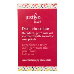 Decadent, pure rose oil scattered with aromatic rose petals. Experience a truly indulgent taste that you'll love. Life is rich. Aromatherapy chocolate bar 50g
