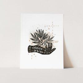 Botanical Hand A4 Print