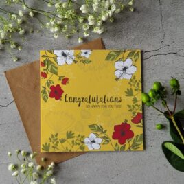 Congratulations card– So happy for you two!