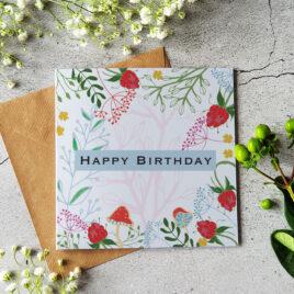 Happy Birthday card – Raspberries