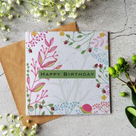 Happy Birthday card – Strawberries