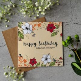 Happy Birthday card – Today is all about you!