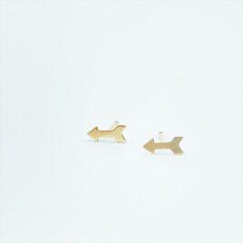 Gold arrow stud earrings