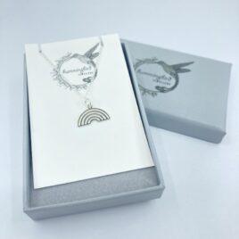 Silver Rainbow – charm necklace