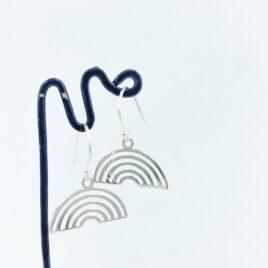 Rainbow drops- Silver earrings