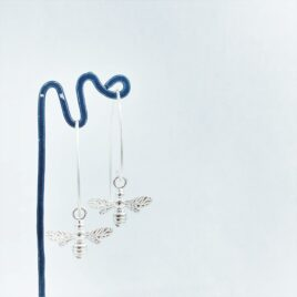 Bee Drops- Sterling silver Earrings