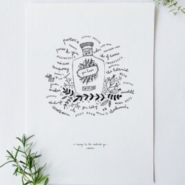 A Homage to the Scottish Gin A4 Print – Scottish gin, gin lover, gin print
