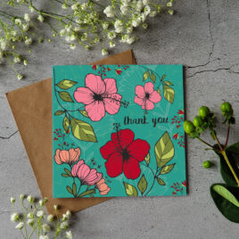 Thank You Card – Teal