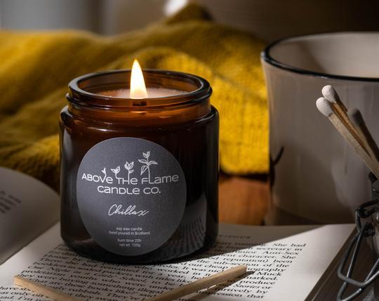 chillax calming botanical candle