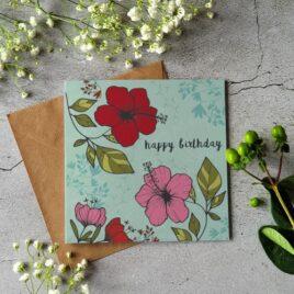 Happy Birthday card – Aqua