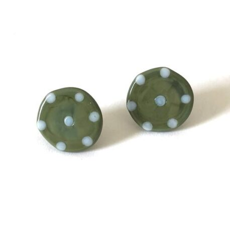 olive dotty buttons