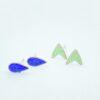 Seedling copper enamel stud pack in leaf green and blue