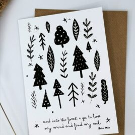 Into the forest card – John Muir
