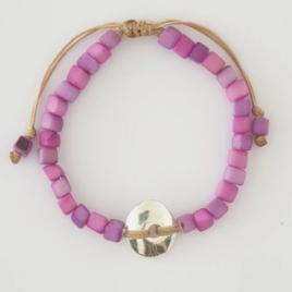Leticia mini square Tagua nut bracelet