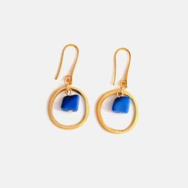 Leticia Tagua nut hoop earrings