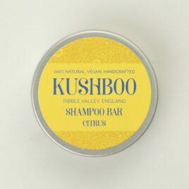 Kushboo Citrus Shampoo Bar in tin