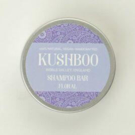Kushboo Floral Shampoo Bar in tin