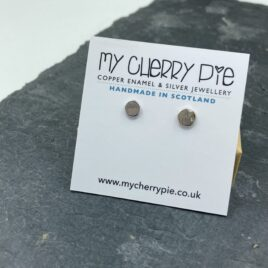 Recycled silver flat circle stud
