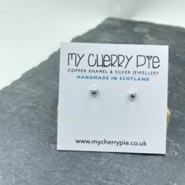 Recycled silver small stud earrings