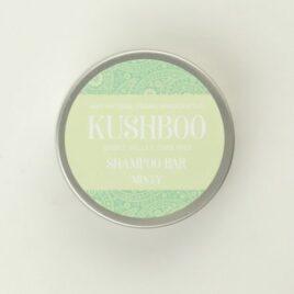 Kushboo Minty Shampoo Bar in tin