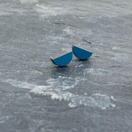 Ishbel Watson Tiny Stud half moon in Blue